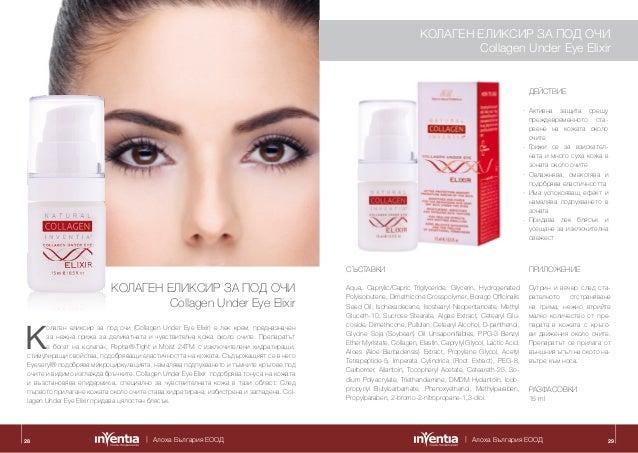 Алоха България ЕООД Алоха България ЕООД28 K олаген еликсир за под очи (Collagen Under Eye Elixir) е лек крем, предназначен...