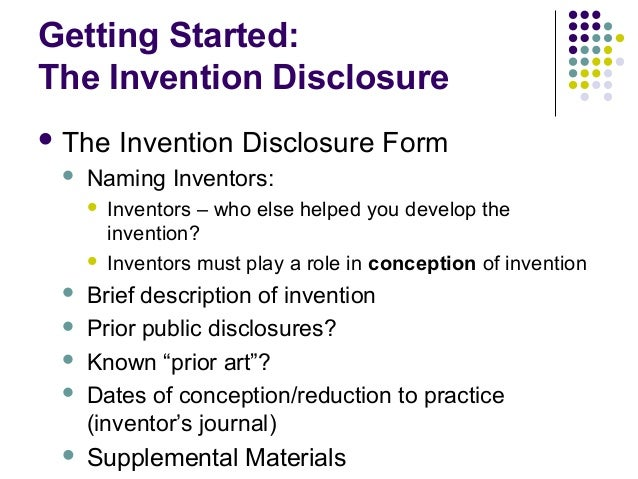 Inventing 101- Protecting the rights to your invention