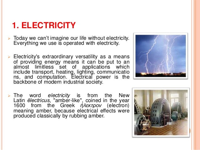 Essay on life without electricity
