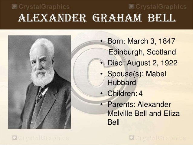 school project on alexander bell biography