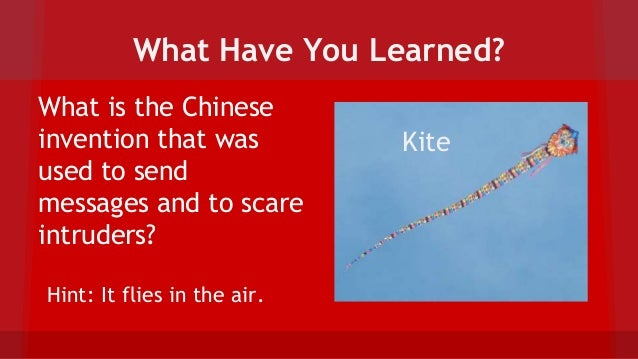chinese inventions kite An overview of major chinese inventions  other chinese inventions the chinese have been credited with inventing the kite other chinese inventions are.