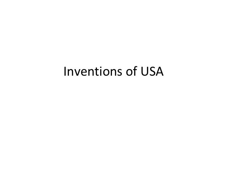 Inventions of USA