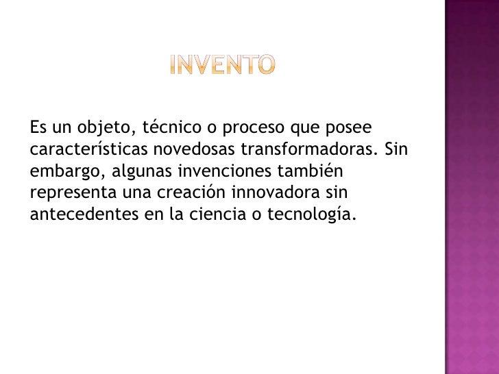 Invento e innovaciones Slide 2