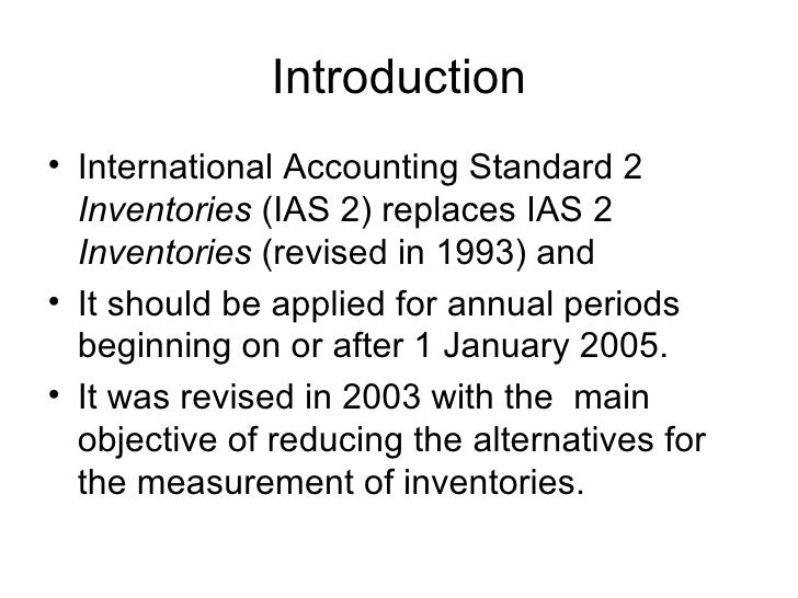 inventories ias 2 Profwaqar hassan randhawa hailey college of commerce ias 2 inventories financial reporting hailey college of commerce financial.