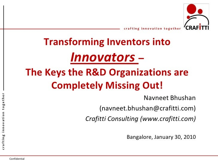 crafting innovation together                                                     Transforming Inventors into              ...