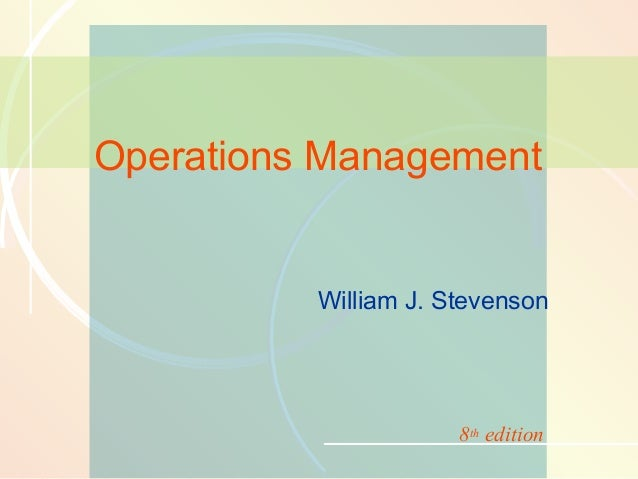 11-1  Inventory Management  Operations Management  William J. Stevenson  8th edition