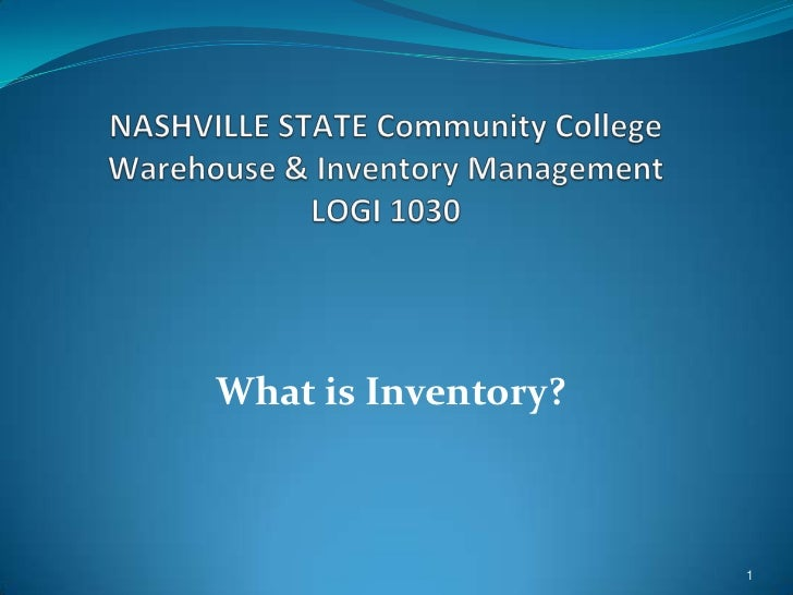 What is Inventory?                     1