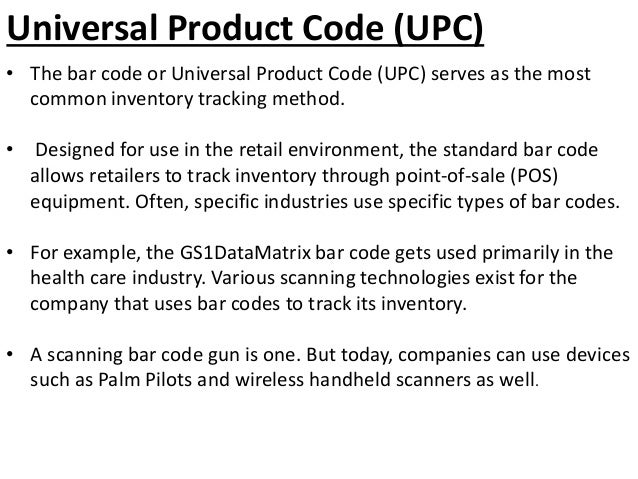 Inventory Tracking Methods