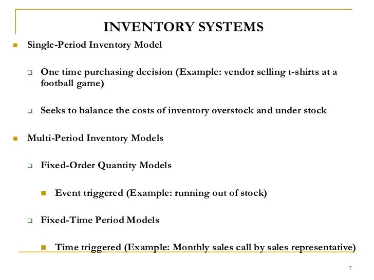 inventory control example