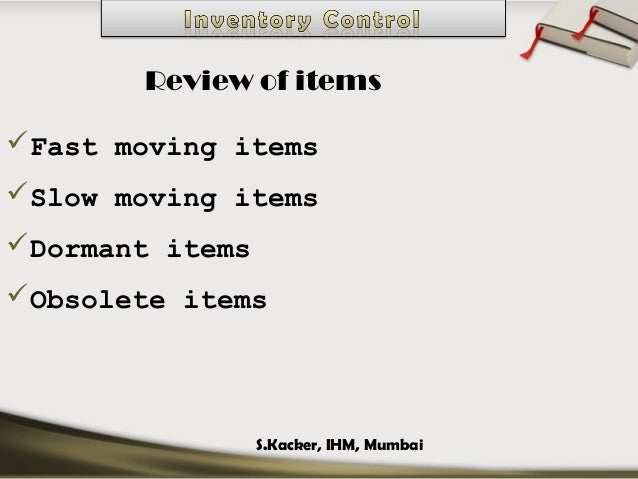 obsolete items in inventory