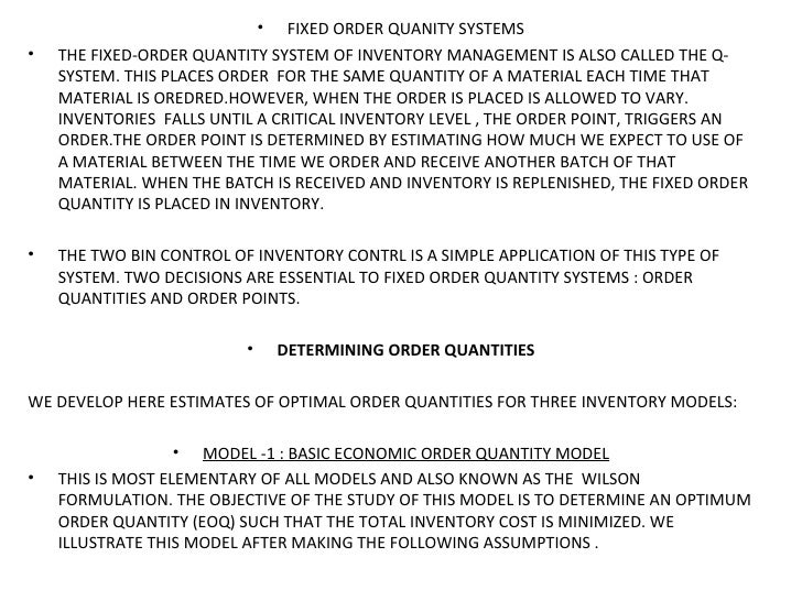 Optimal Inventory Modeling Of Systems Repost 12