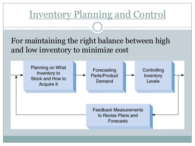 inventory plan Our inventory software solutions enable you to efficiently manage your demand  forecasting, planning, buying and fulfillment processes from both a service and a .