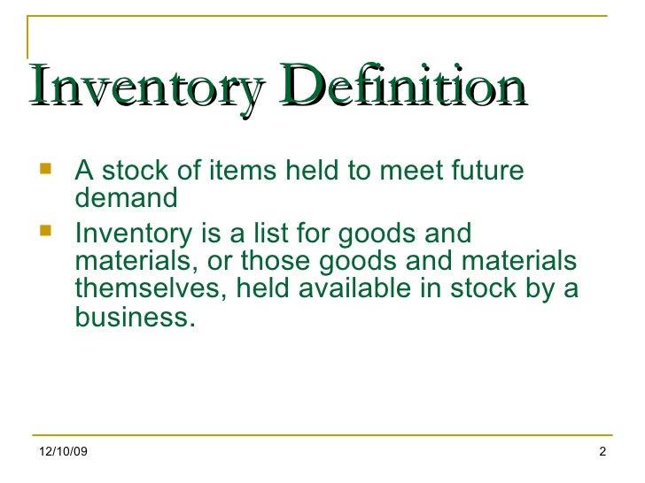 stock inventories