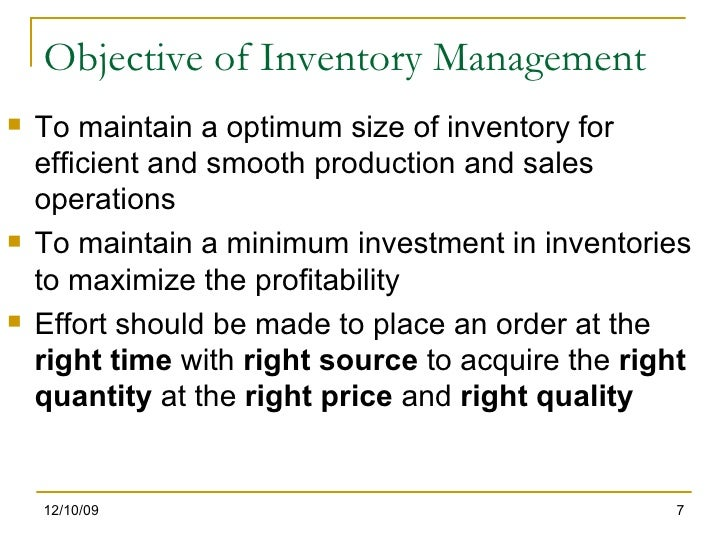 objective in inventory Objectives of internal controls set by management part 111  (receipts of inventory are correctly recorded in the accounting system) v).