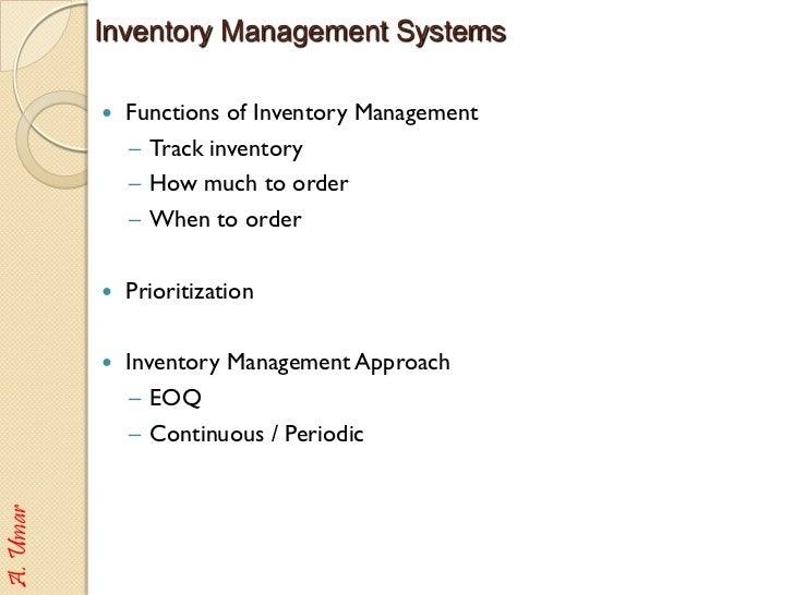 retail inventory management control