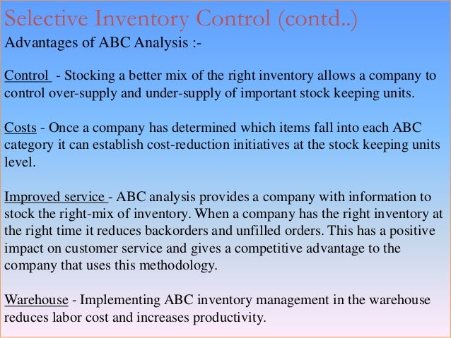 significance of the study of inventory management Because of their practical and economic importance, the subject of inventory handling and investment costs, and all require management attention for our analysis 6 inventory theory 252 the deterministic model.