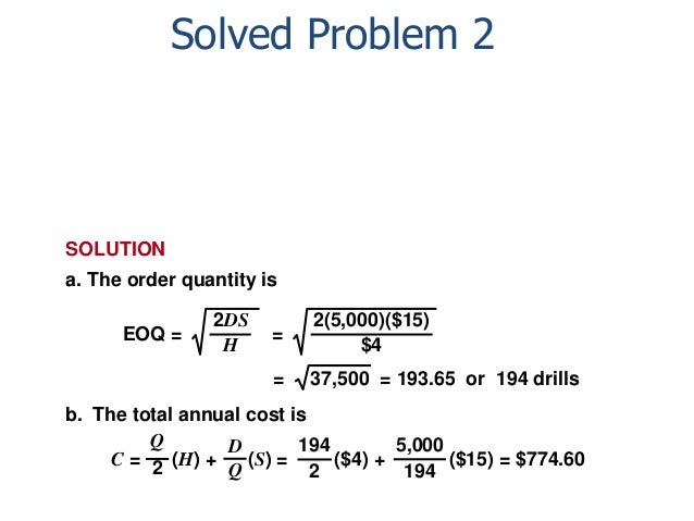eoq example calculation