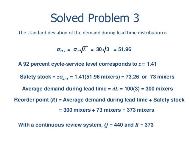 Inventory management 79 solved problem 3 the standard deviation ccuart Images