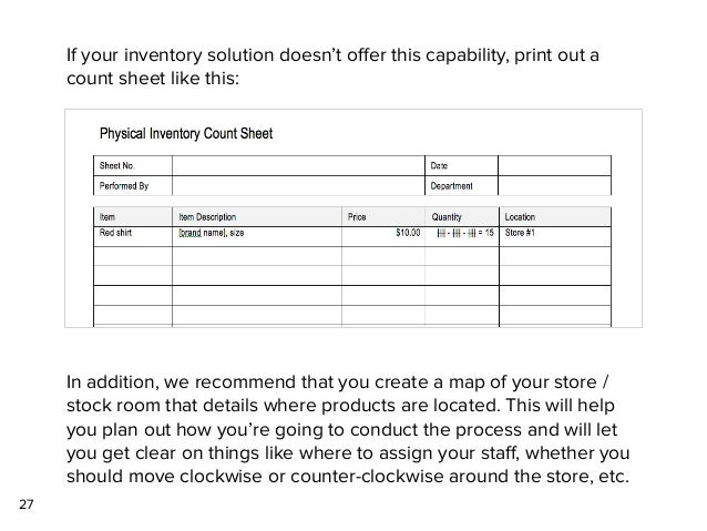 physical inventory forms
