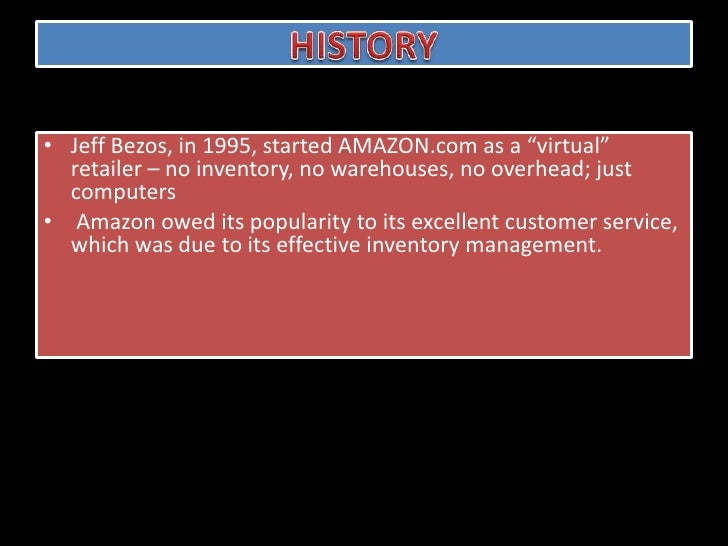 amazon com's inventory management It's that time of year again, when shoppers hit the stores on black friday and go online on cyber monday, the biggest day of the year for internet sales experts predict that internet sales will increase 12 percent this year amazon's sales this holiday season will grow much faster.