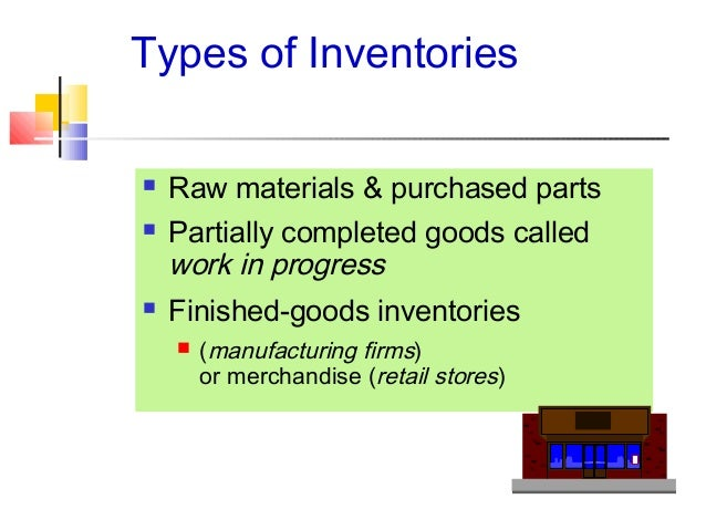 describe the four types of inventory