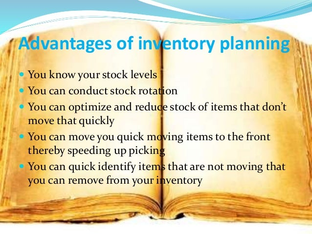 advantages and disadvantages of inventory management pdf