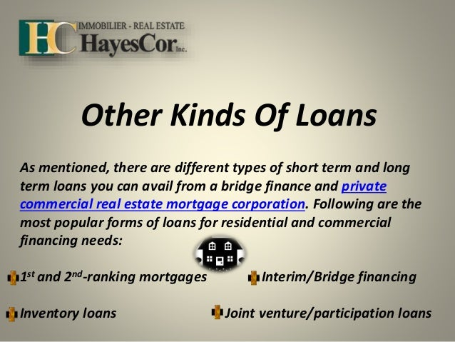 Inventory & Real Estate Development Mortgage Loan Provider in Montreal