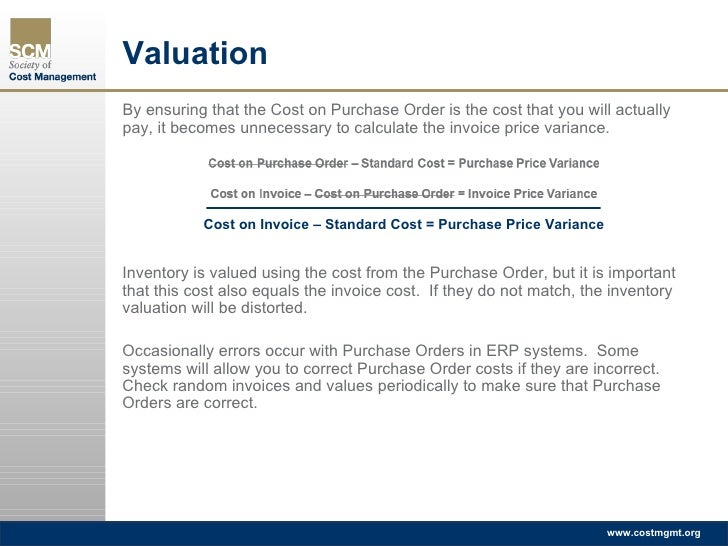Inventory Valuation Accuracy - Check invoice price