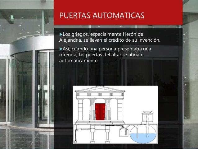 Resultado de imagen de heron de alejandria puertas automaticas