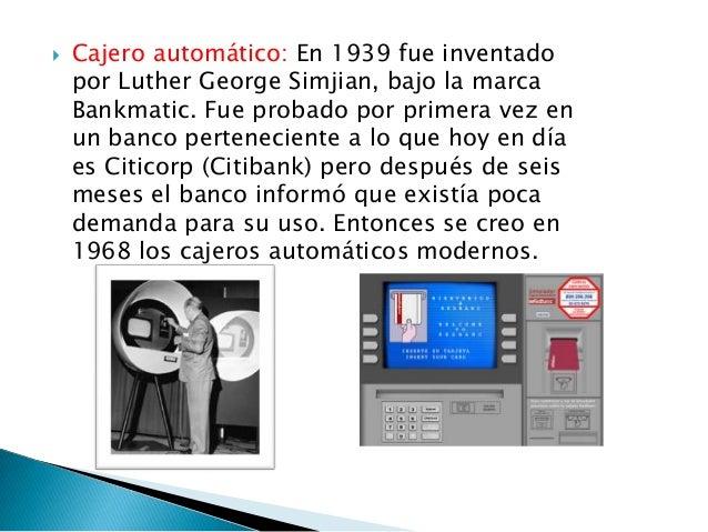 Inventos del siglo 20 for Los cajeros automaticos