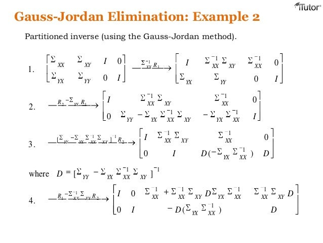 how to use gaussian elimination to find inverse matrix