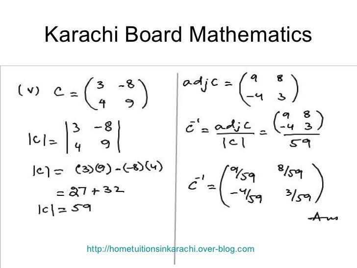 Inverse of matrix, Transpose of Matrix, Adjoint, Metric Maths Solution