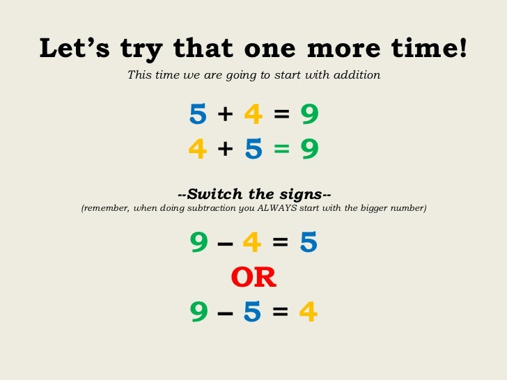 inverse relationship between addition and subtraction worksheets
