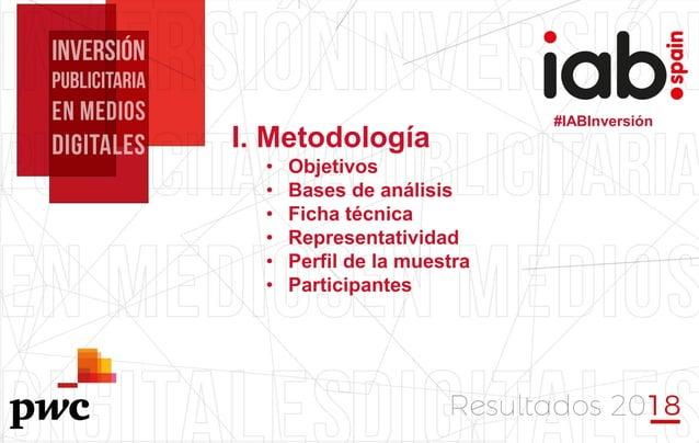 #IABInversión I. Metodología • Objetivos • Bases de análisis • Ficha técnica • Representatividad • Perfil de la muestra • ...