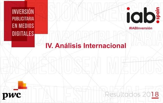 #IABInversión #IABInversión IV. Análisis Internacional