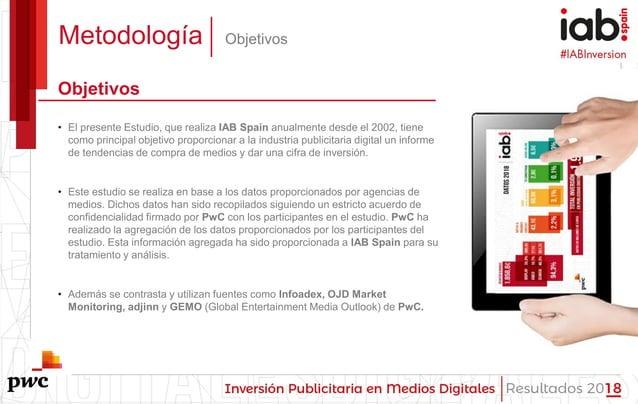 #IABInversión Metodología Objetivos Objetivos • El presente Estudio, que realiza IAB Spain anualmente desde el 2002, tiene...