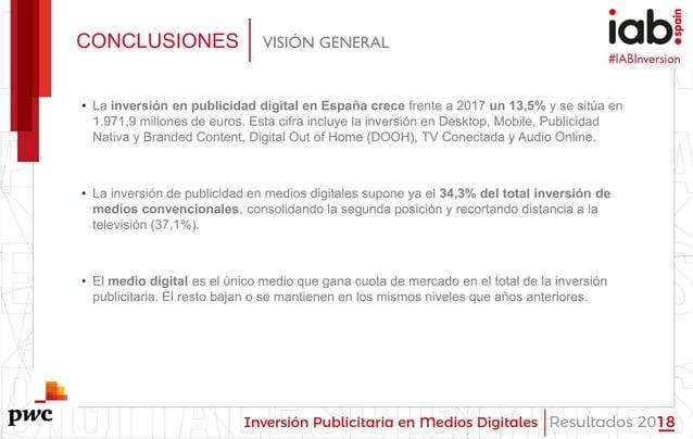 #IABInversión • La inversión en publicidad digital en España crece frente a 2017 un 13,5% y se sitúa en 1.971,9 millones d...