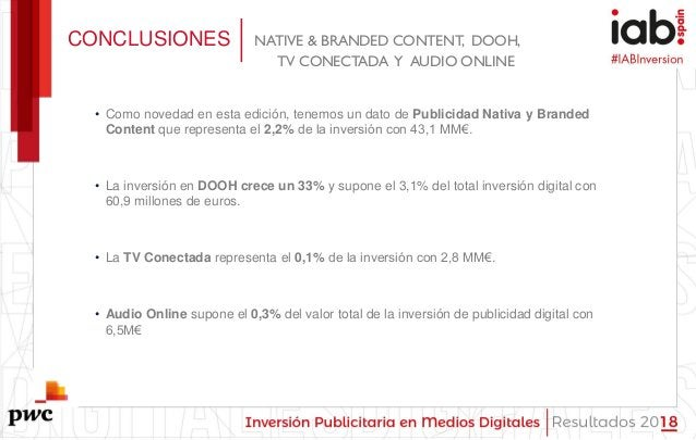 #IABInversión • Como novedad en esta edición, tenemos un dato de Publicidad Nativa y Branded Content que representa el 2,2...