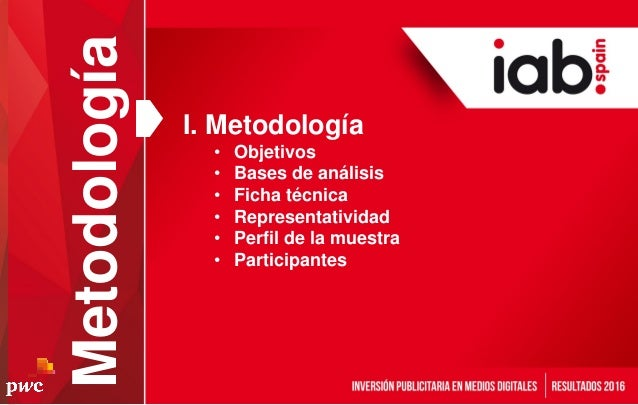 I. Metodología • Objetivos • Bases de análisis • Ficha técnica • Representatividad • Perfil de la muestra • Participantes ...