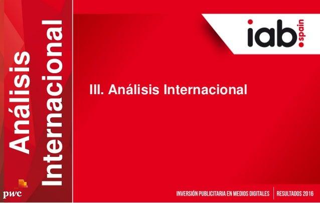 III. Análisis Internacional Análisis Internacional