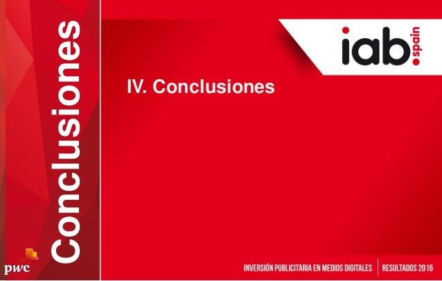 IV. Conclusiones Conclusiones