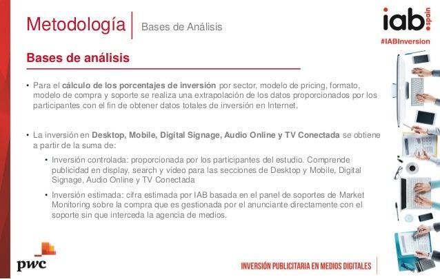 Metodología Bases de Análisis Bases de análisis • Para el cálculo de los porcentajes de inversión por sector, modelo de pr...