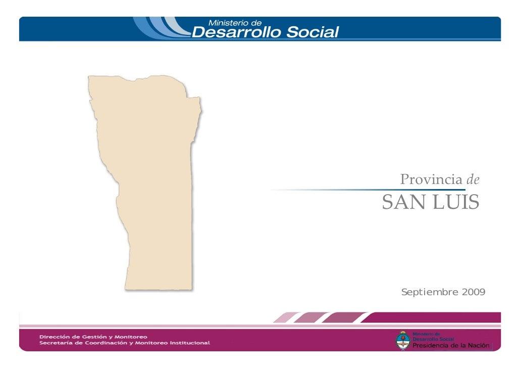 Provinciade SANLUIS     Septiembre 2009