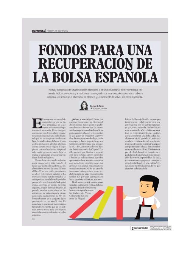 Fondos para una recuperacion de la bosa espanola