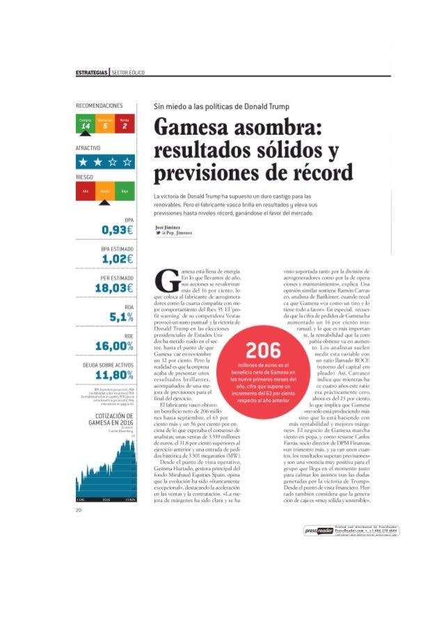 Gamesa asombra: resultados sólidos y previsiones récord