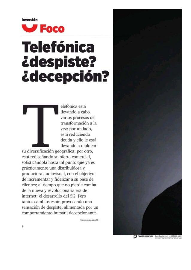 Telefónica despiste o decepcion