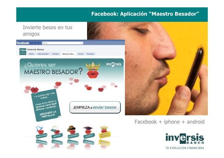 """Facebook: Aplicación """"Maestro Besador""""  Invierte besos en tus amigos                                            Facebook +..."""