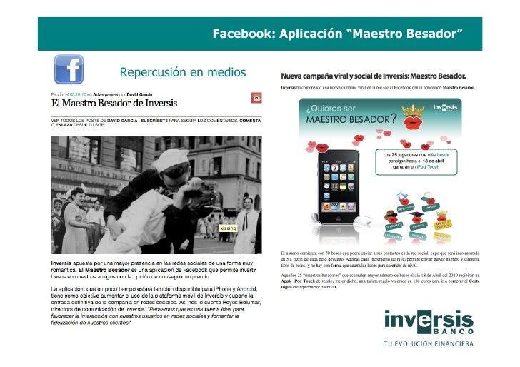 """Facebook: Aplicación """"Maestro Besador""""   Repercusión en medios"""