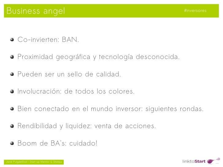 Business angel                                             #inversores         Co-invierten: BAN.         Proximidad geogr...