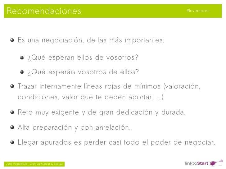 Recomendaciones                                             #inversores         Es una negociación, de las más importantes...